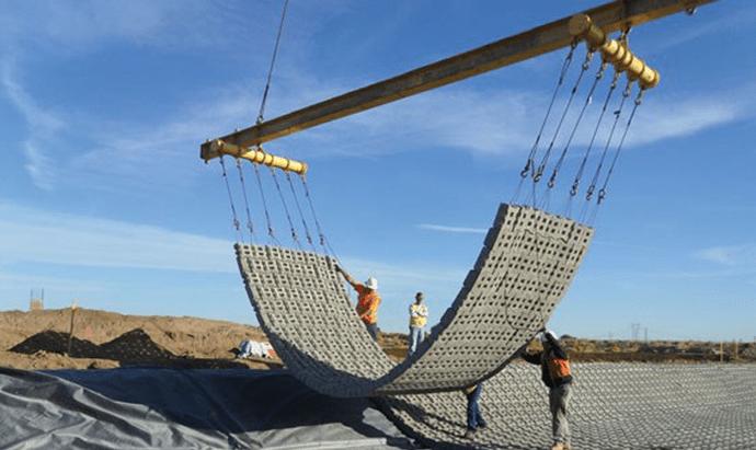 Designing Dam Embankments With Articulating Concrete Block