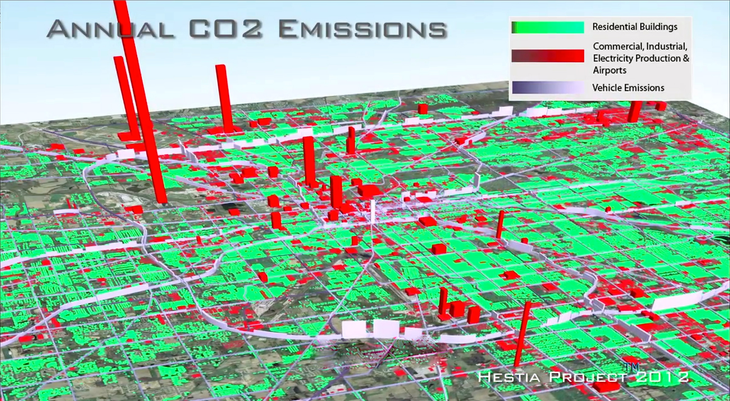 Researchers To Create D Carbon Dioxide Mission Maps For Major - Map major us cities