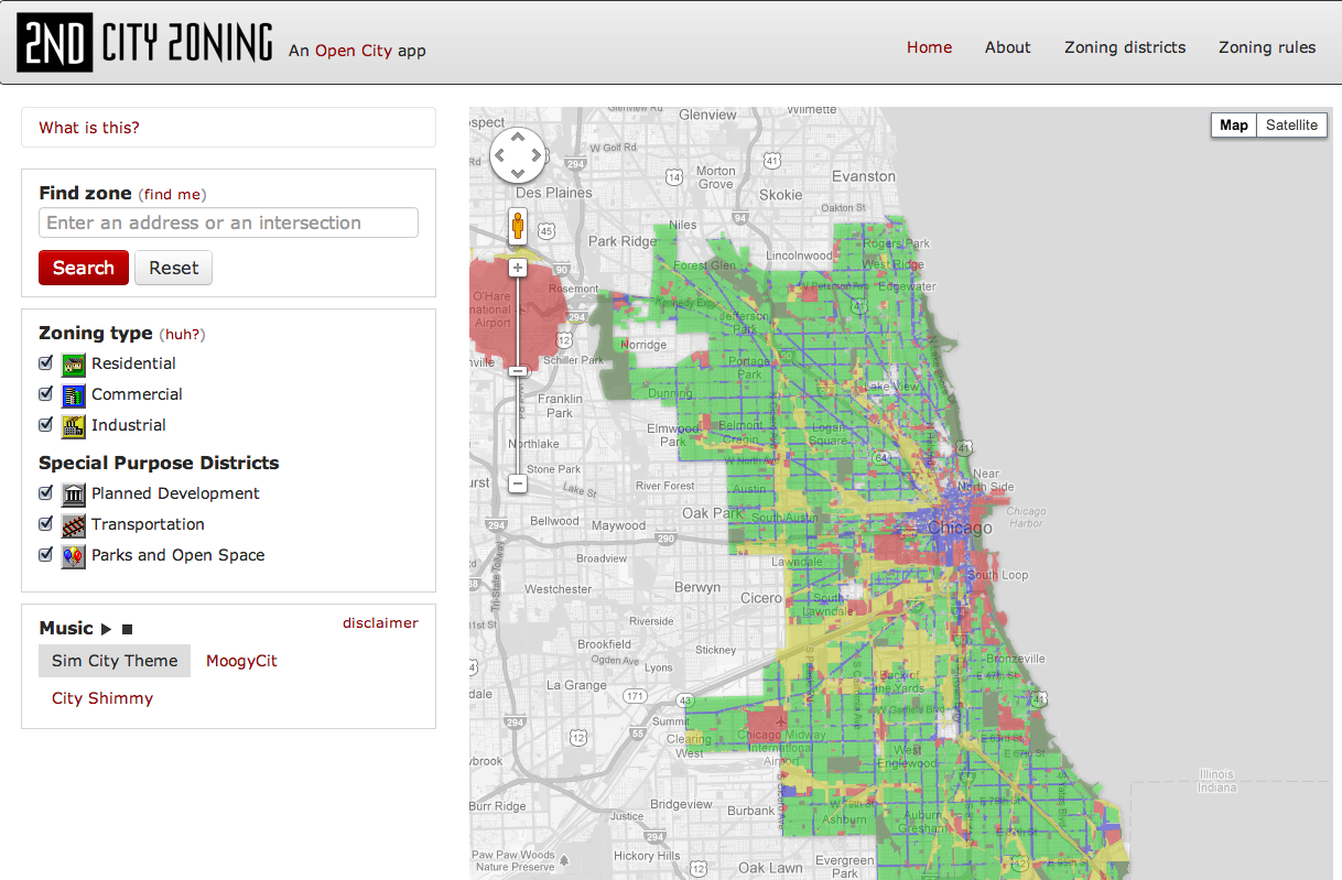 Open City Provides Detailed Map View of Chicago Zoning Informed