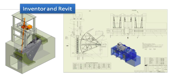 Detailed 3D models are created in Inventor and integrated into Revit for the overall picture as well as the output of construction plans.