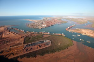 Port Hedland Port Authority new intelligent mapping platform provides a crystal-clear view of the port and its operations. (Please credit image to Port Headland Port Authority).