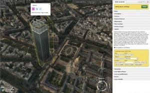 Acute3D CityPlanner Uploaded building