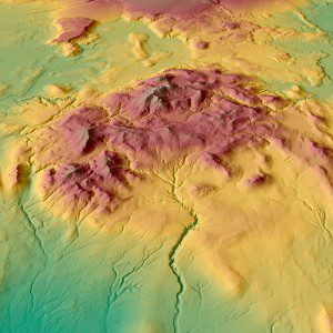 Image of iceland from the WorldDEM global elevation dataset.