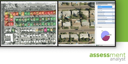 Assessment Analyst is a customizable solution that allows you to view and modify CAMA data, building sketches, imagery, street front photos, and analytics simultaneously.