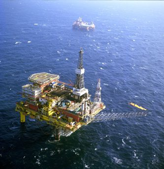 AMEC uses AVEVA software to manage operations on the Dunlin A platform. Photo courtesy of AMEC.