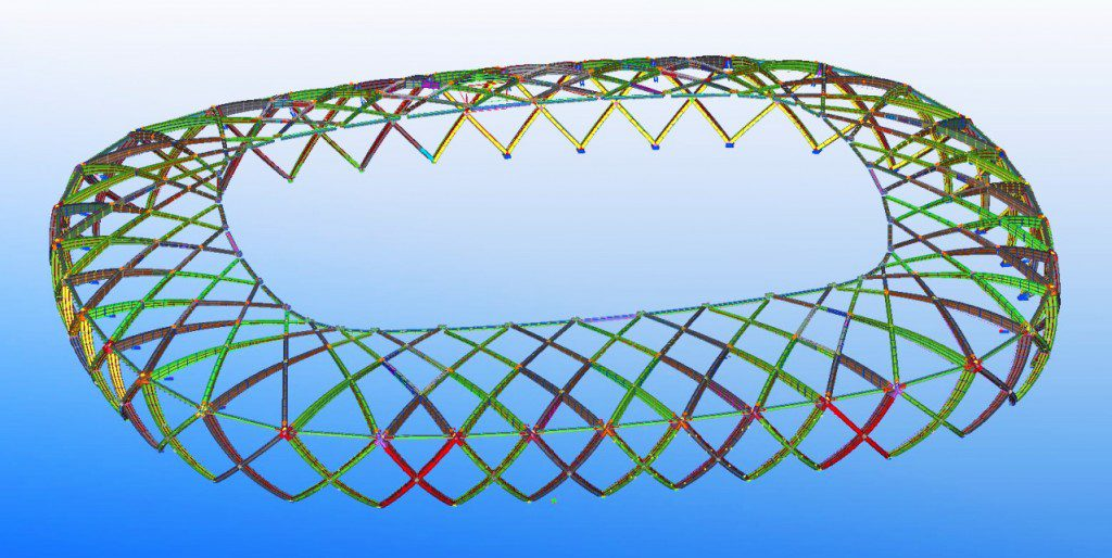 Tekla Structures made the complex steelwork of the Arena da Amazonia possible. Copyright © 2014 Tekla