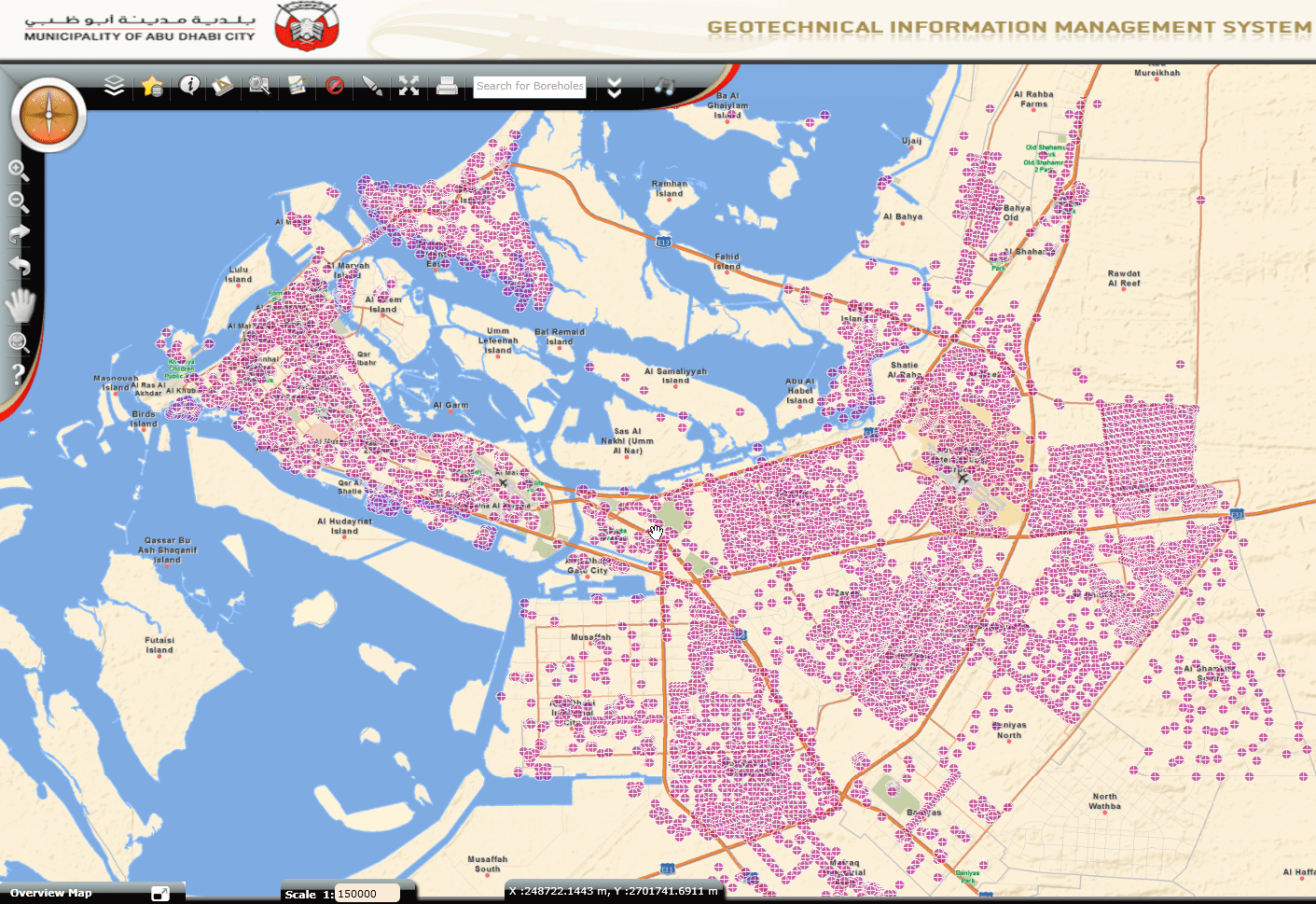 The Geotechnical Information Management System (GIMS) provides easy access to data for all boreholes around Abu Dhabi.
