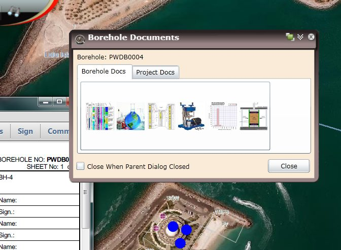 Users can access legacy borehole data, including scanned report, geotechnical lab reports, and more.