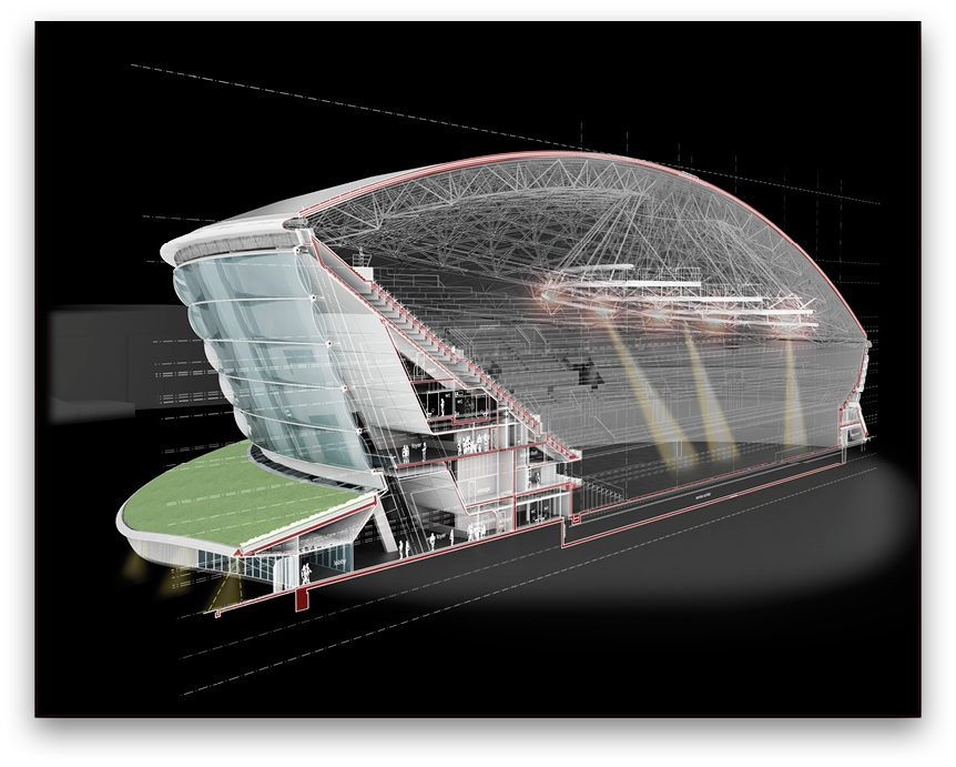 Bentley's building information modeling (BIM) software managed the complex geometry involved in this innovative design.