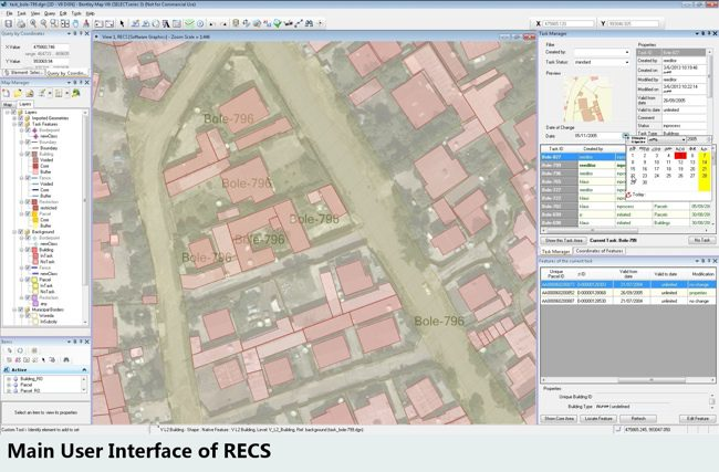 Comprehensive CAD and GIS functionality provided the perfect base for handling cadastral data and ensuring data quality and consistency.