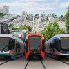 Three Siemens-proposed designs, one of which will be chosen by the SFMTA following public input.