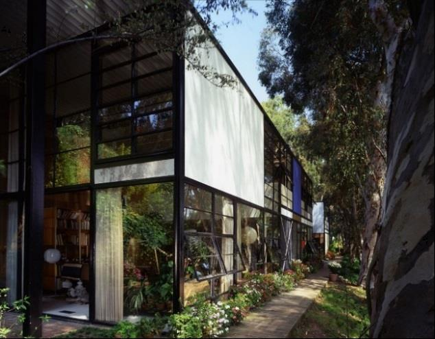 Charles and Ray Eames, Eames House. Photo: Timothy Street-Porter ©2014 Eames Office, LLC