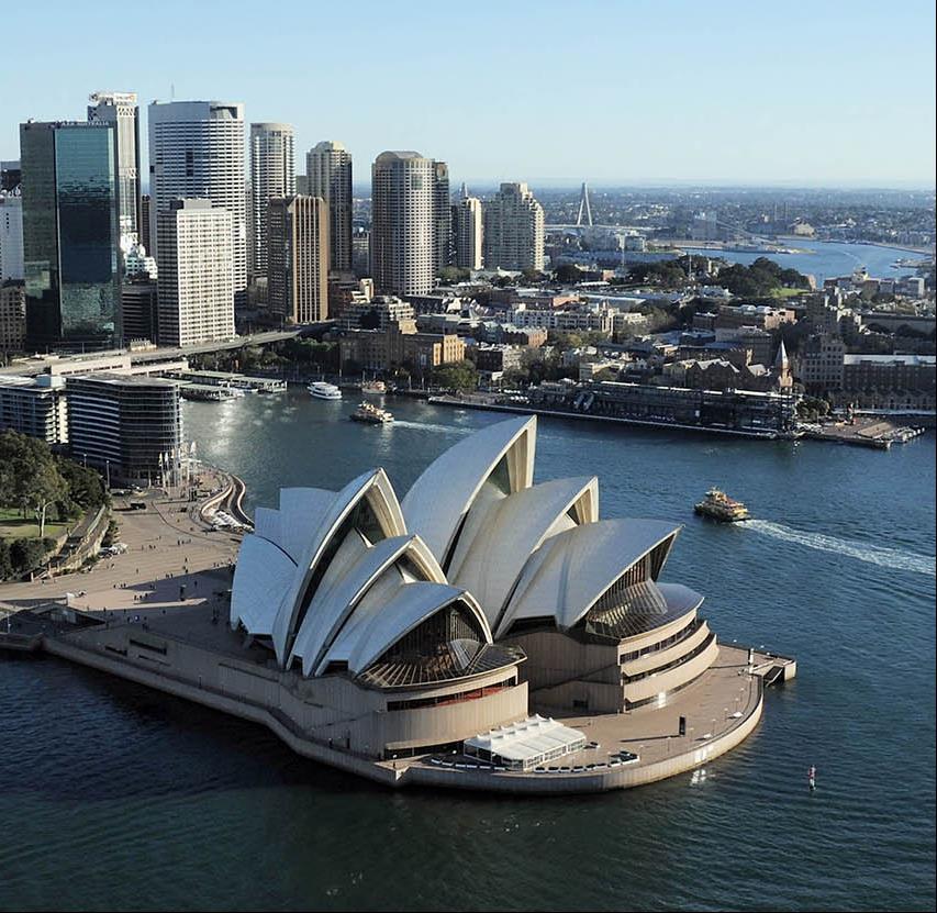 Sydney Opera House in its Sydney Harbour setting. Photo: Jack Atley, courtesy of Sydney Opera House Trust