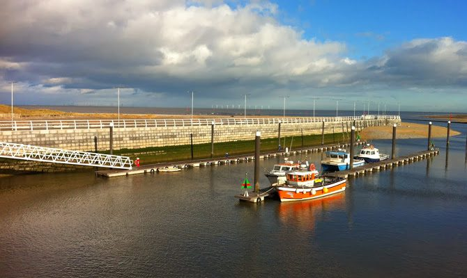Rhyl Harbour Before The Storm
