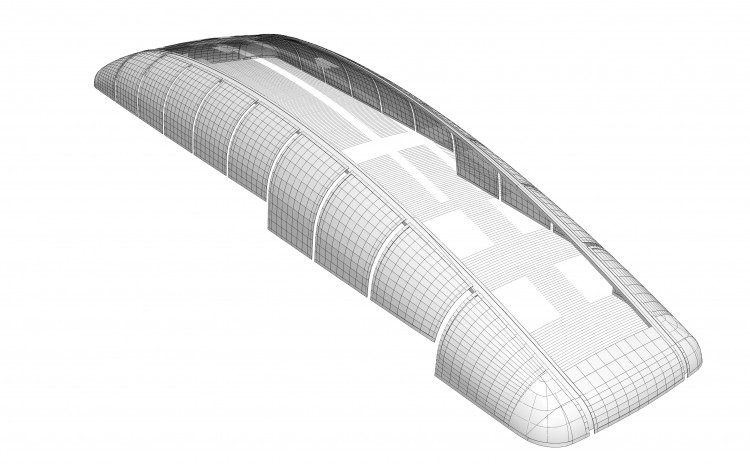 RPP used GenerativeComponents and Bentley Architecture to explore various design iterations, varying the size, number, and curvature of the panels to achieve a buildable solution.