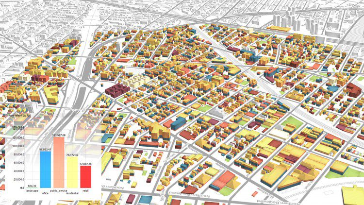 Urban Canvas allows planners to analyze proposals as they design.