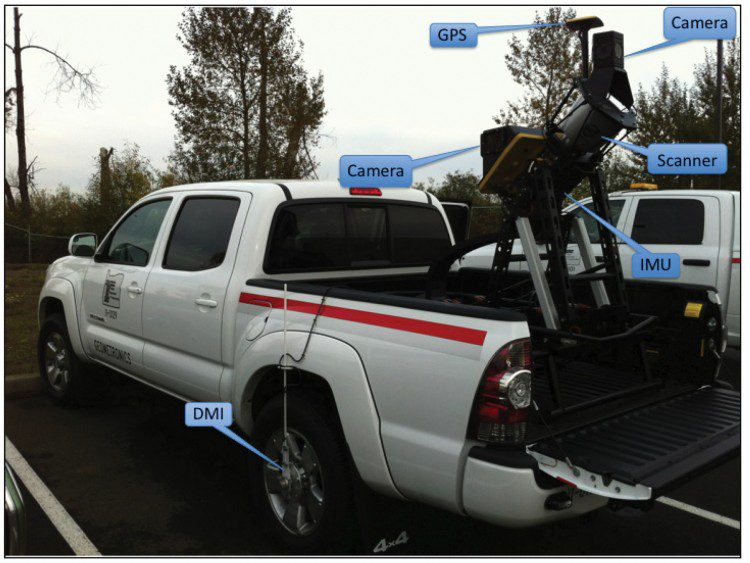 A mobile platform connects all data collection hardware into a single system. Photo credit: Topcon Positioning System