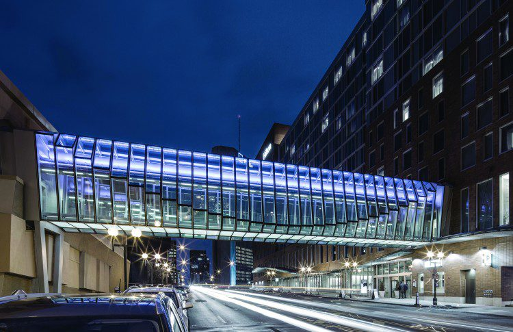 Merit Award: Hilton Columbus Downtown High Street Bridge, Columbus, Ohio;Credit: Macbeth Photo