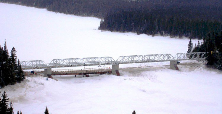 La Romaine Bridge, La Romaine, Quebec, Canada