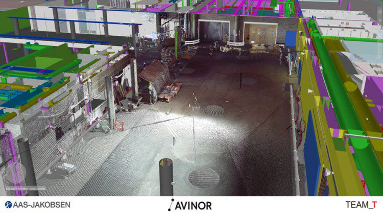 Laser scanning is used to verify and check construction against the model.
