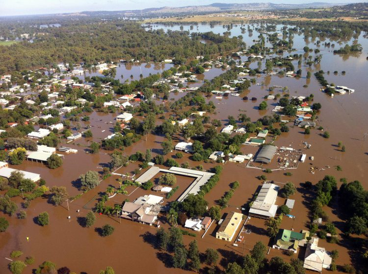 The 2012 Wagga Wagga flood in the Australian state of New South Wales peaked at 10.8 meters, nearly topping the 11-meter levy built on predictions, illustrating how simulation and analysis can help save property and lives.