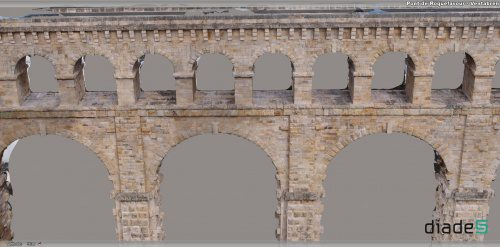 Bentley's ContextCapture automatically produced a reality mesh from thousands of UAS photos of otherwise unreachable areas of the Roman-built Aqueduc de Roquefavour in France.
