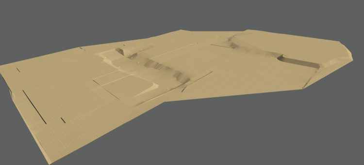 Surface models created in Autodesk Civil 3D were used for a variety of tasks.