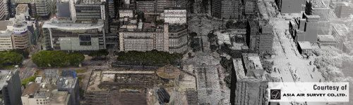 ContextCapture used ordinary photos to create this accurate 3D model of the Sakae commercial district in Nagoya, Japan.