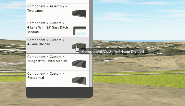 Custom component roadway configurations are available from the component assembly stack.