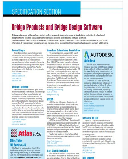 Specification Section : Bridge Products And Bridge Design