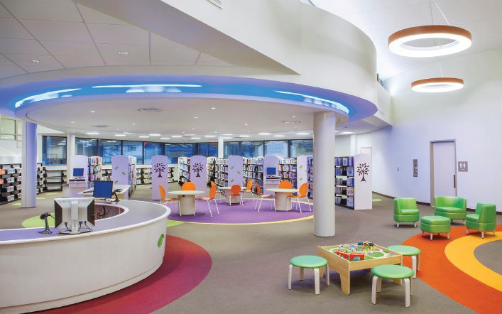 The Redeveloped Commack Public Library Houses A Large Childrenu0027s Room  Designed To Provide An Enriching Environment For Children And Families.